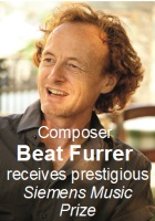 2018-05-04 Composer Beat Furrer receives prestigious Siemens Music Prize - click here