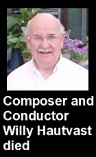 2020-05-07 Composer and conductor Willy Hautvast died - click here