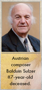 2018-04-12 Austrian composer Balduin Sulzer 87-year-old deceased - click here